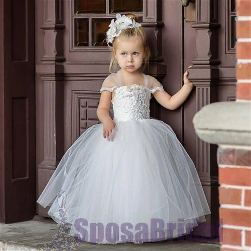 Lovely Cute Lace Pretty Soft Newest Flower Girl Dresses With Bow