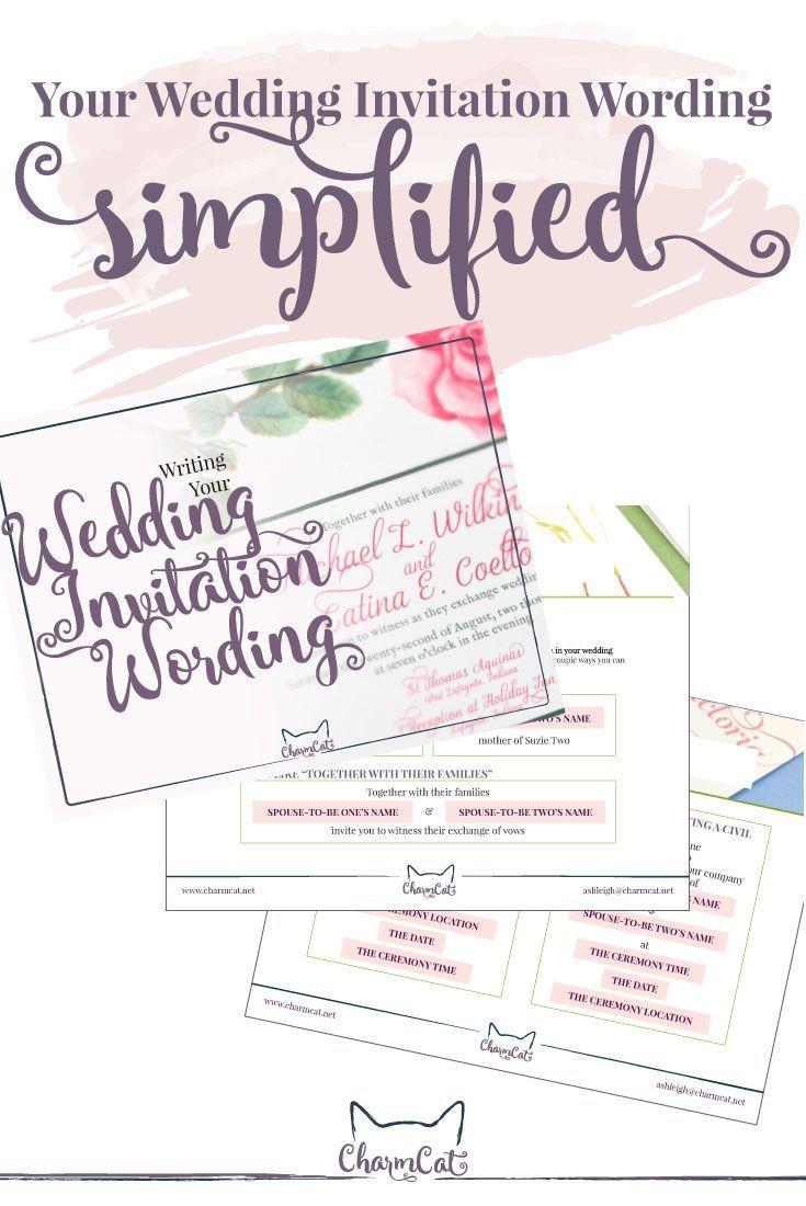 Your wedding invitation wording SIMPLIFIED! Visit charmcat.net ...