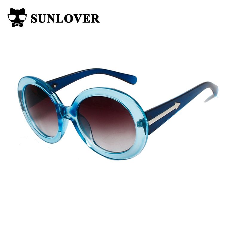 23ea5ce7437 Sunlover 2017 New Fashion Women Sunglasses Round Oversized Frame Arrow  Style sun glasses Limited Promotion Sale