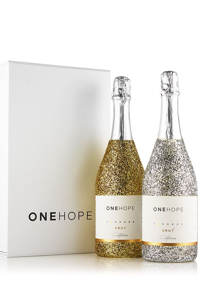 Glitter Sparkling Brut 2 Bottle Gift Box Build Your Custom Two Bottle Gift Box With Our Special Edition Sparkling Brut Gl Wine Gifts Bottle Gift Glitter Bottle