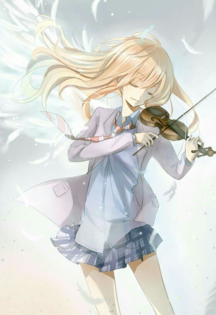 Miyazono Kaori Playing Violin Angel Wings Your Lie In April Shigatsu Wa Kimi Kimi No Uso Shigatsu Wa Kimi No Uso