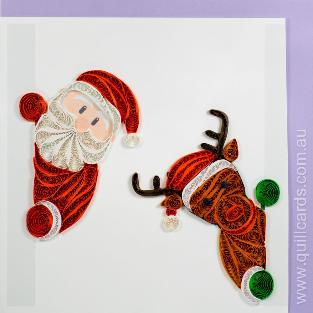 Handmade Quilling Greeting Cards Christmas And Happy New