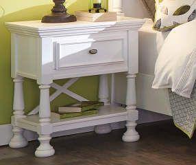 Kaslyn White Nightstand White Nightstand Attic Bedroom Small Furniture