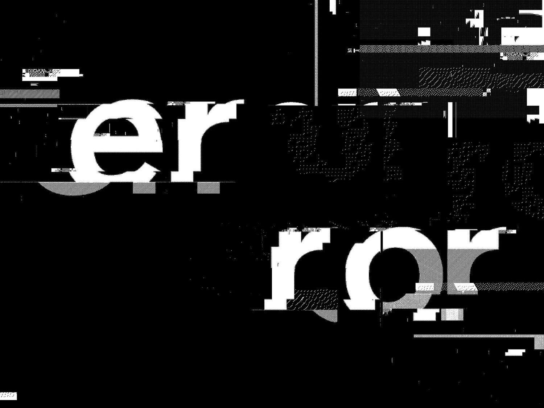 ERROR #glitch |  Digitalism | Typography design, Graphic design