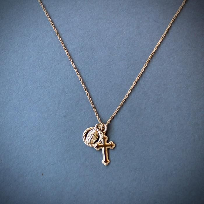 The Hail Mary Dainty Necklace | Hail mary and Mary