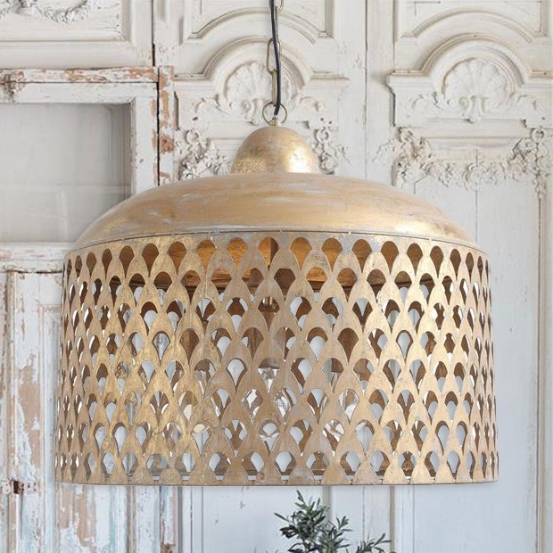 Gold Finished Metal Pendant Lamp #pendantlighting