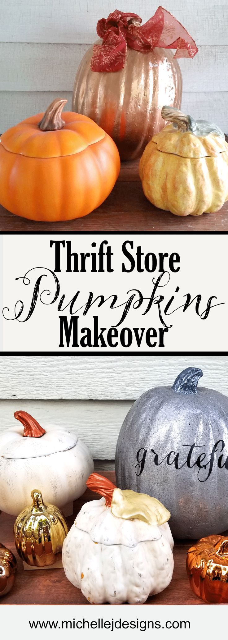 How to store pumpkins - Thrift Store Pumpkins Makeover For Fall Home Decor