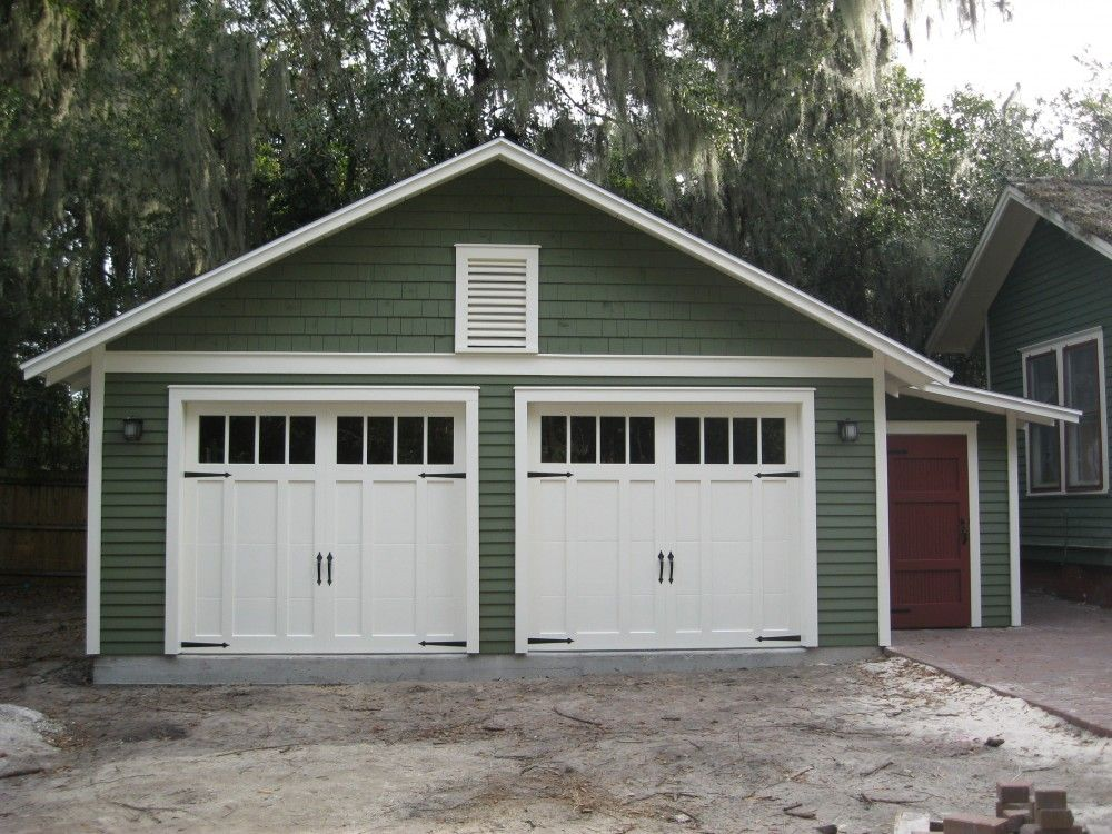 Cbc detached garage decorations for two cars for Garage door styles