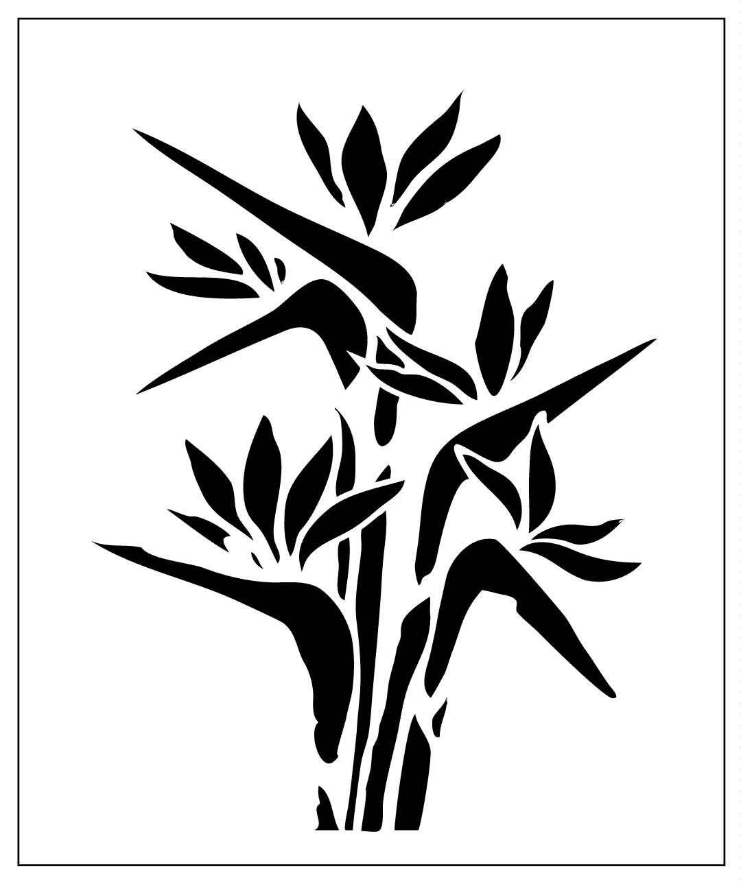 Bird of Paradise flower on laser-cut stencil by