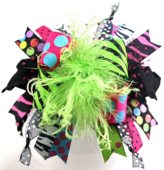 Hollywood Glam and Bling Over the Top Hair Bow with by sanchezc30, $19.99