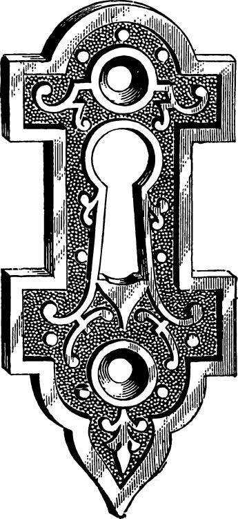 Vintage keyhole | Printable art images, Key drawings