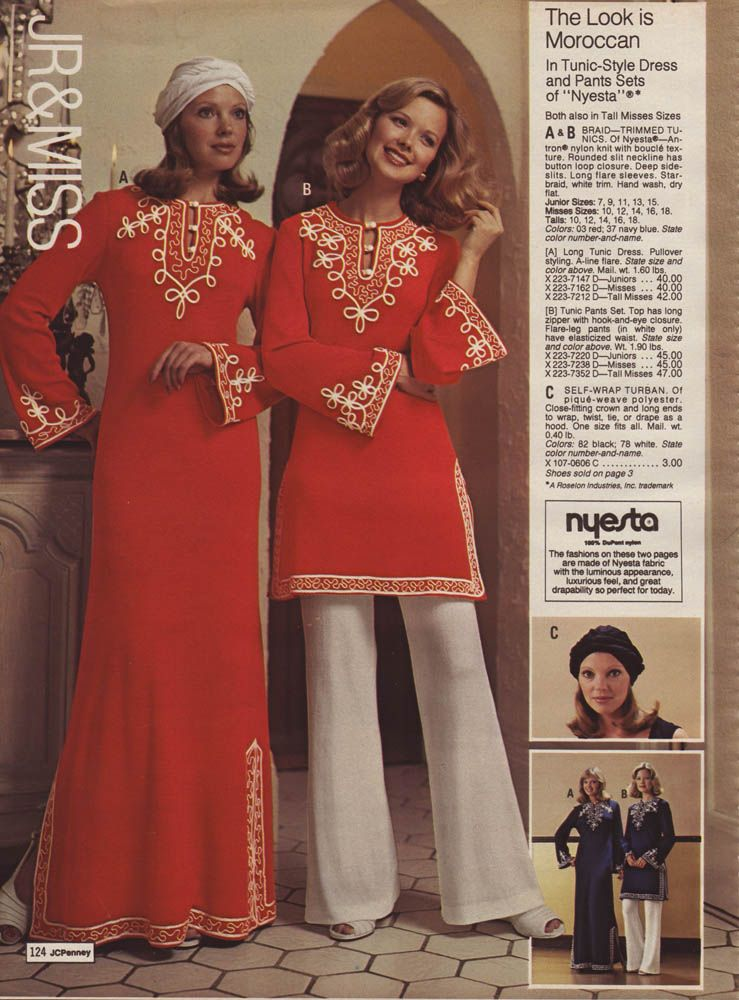 ad94e29af2 1976 Moroccan style clothing. Looks like what Rhoda wore on The Mary Tyler  Moore Show.