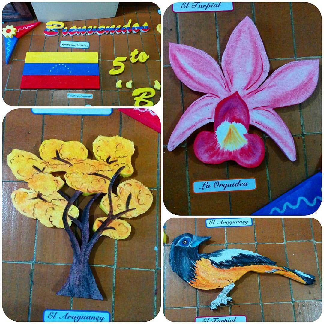 Dibujos De Simbolos Naturales   ambientaci 243 n sal 243 n de clases venezuela s 237 mbolos patrios s 237 mbolos naturales arte