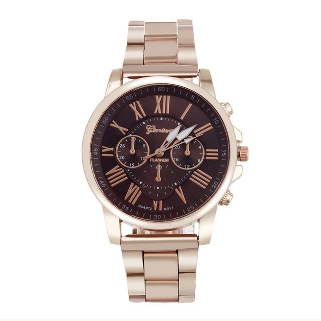 erkek kol saati Colorful Womens Stylish Fashion watch Roman numerals Stainless Steel Big Dial Watch Quartz Sports Watch