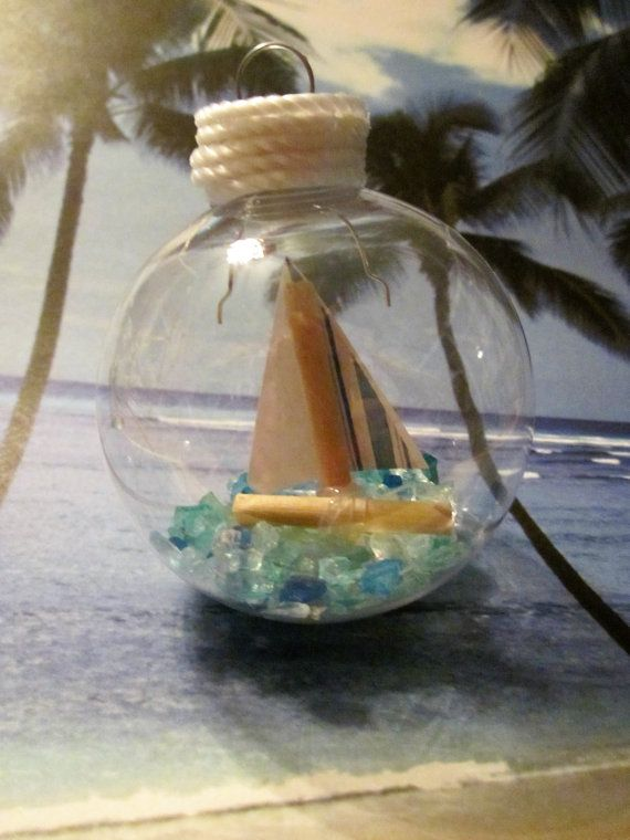 Sailboat Ornament by NorthCreekCrafters on Etsy
