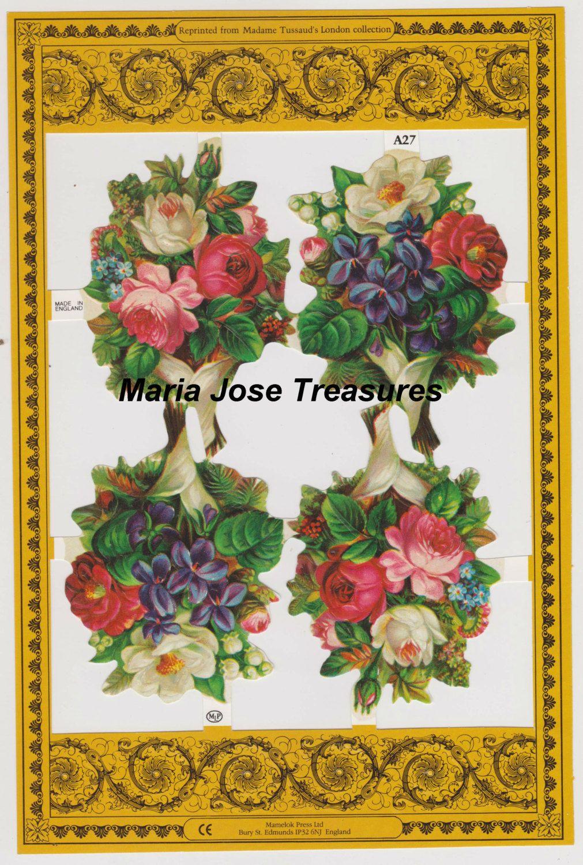 "Vintage Scraps, Cromos ""Flowers"" 16 - Digital Download by MariaJoseTreasures on Etsy"