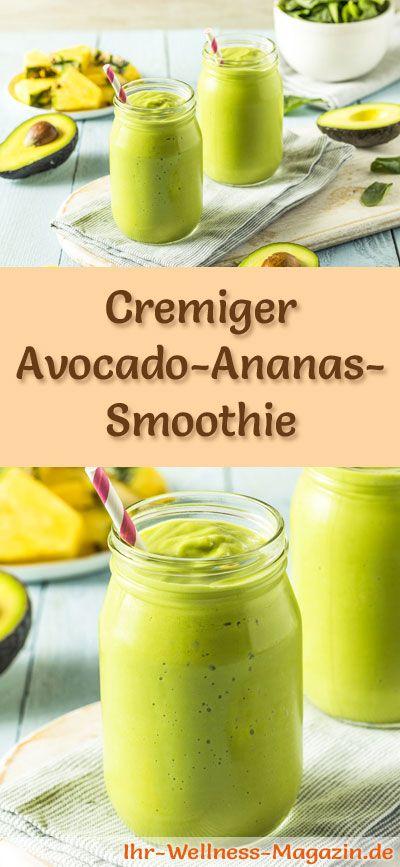 avocado ananas smoothie gesundes rezept zum abnehmen gesund genie en pinterest smoothie. Black Bedroom Furniture Sets. Home Design Ideas