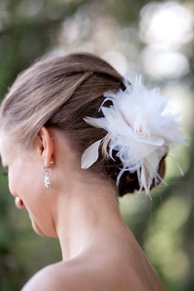 Bridal hair flower