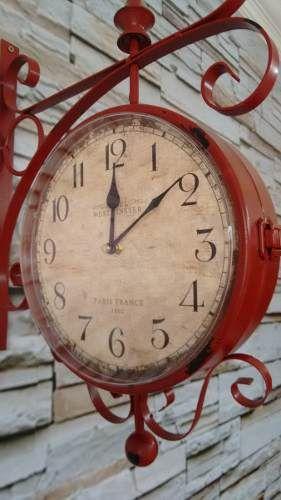 74aa9deac5d relógio de parede estação vintage retrô - lindo Relogio De Parede Retro