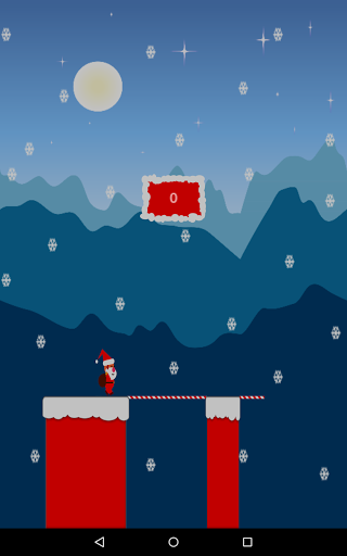 Merry Christmas!<p>Welcome to the month of Christmas. Since Christmas is on the way. Help Santa to cross the chimneys with his magical candy to deliver the gifts.<br>Score as much as to make your name in the Google Leader board.!<p>* Touch and Hold the screen and cross the chimneys to deliver the gifts<br>* Addictive Gameplay<br>* Attractive Game Art.<br>* Competing Leader board scores.<p><br>Stay tuned for more updates!!  http://Mobogenie.com