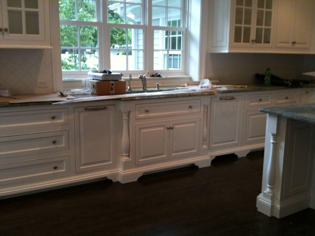 Cabinet Feet Forward Set Sink Split Post Mouldings Kitchen