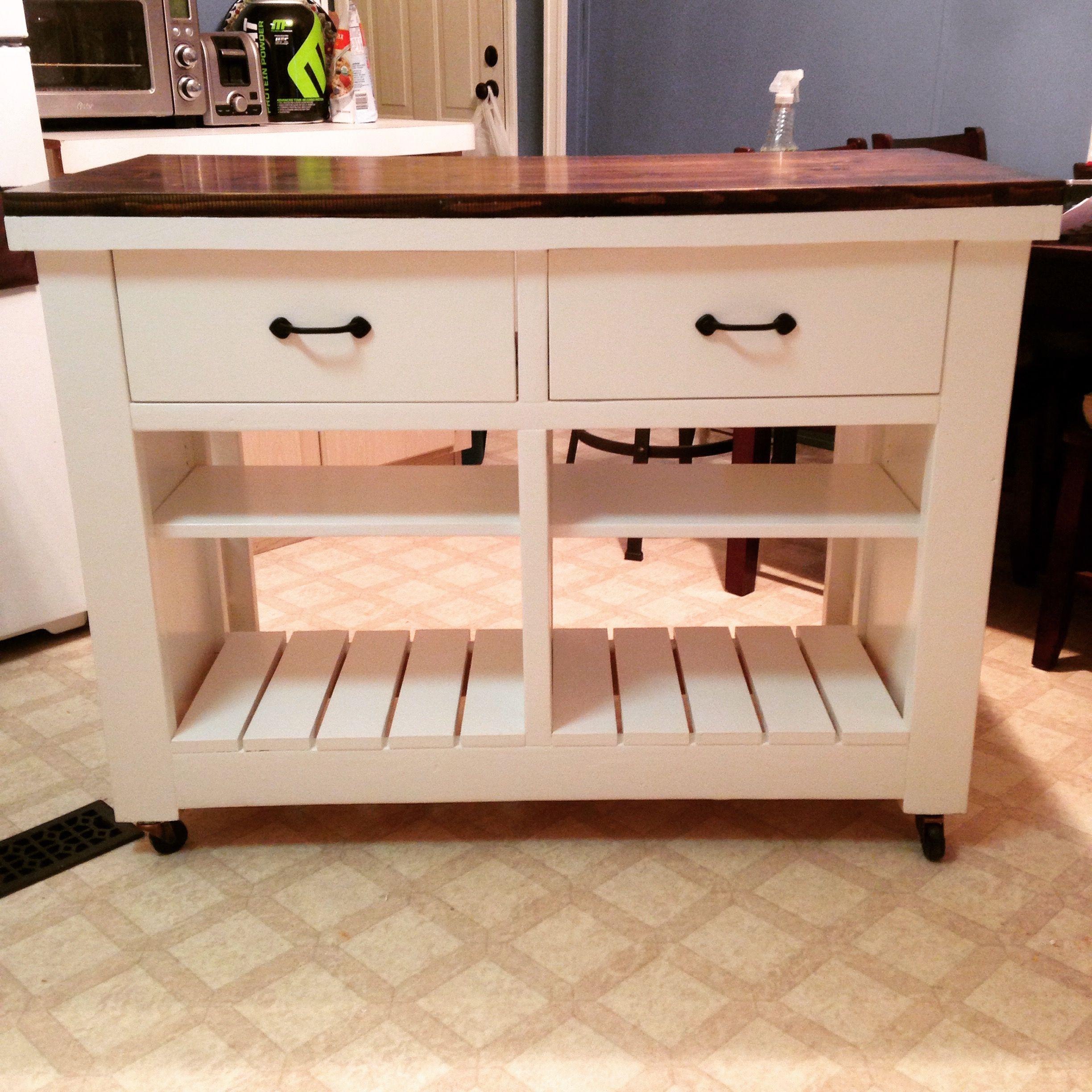 Building kitchen island  Rustic Kitchen Island DIY  Do It Yourself Home Projects from Ana