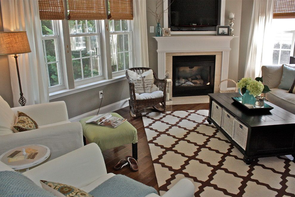 Dazzling Restoration Hardware Paint Colors vogue Charlotte Eclectic Living Room Decorating ideas with bamboo shades baskets cottage Fireplace hardwoods Intellectual Gray living room slipcover table trellis rug