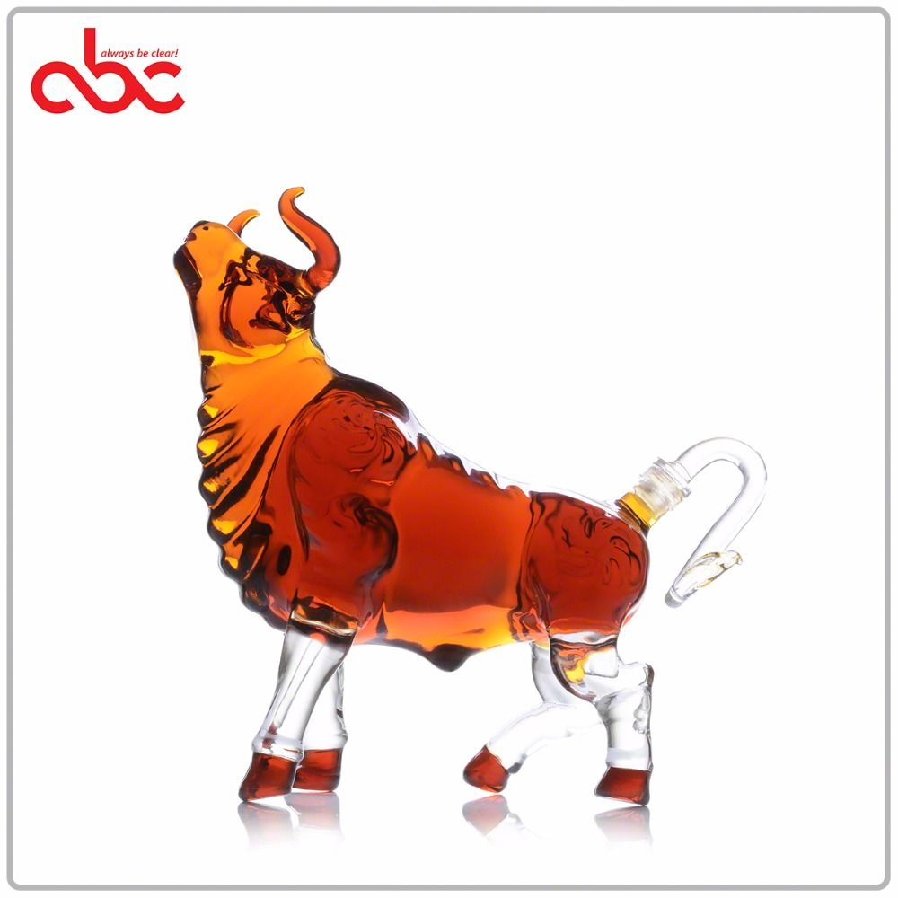 Bull Shaped Bottle Wine Bottle Glass Bottle Cangzhou