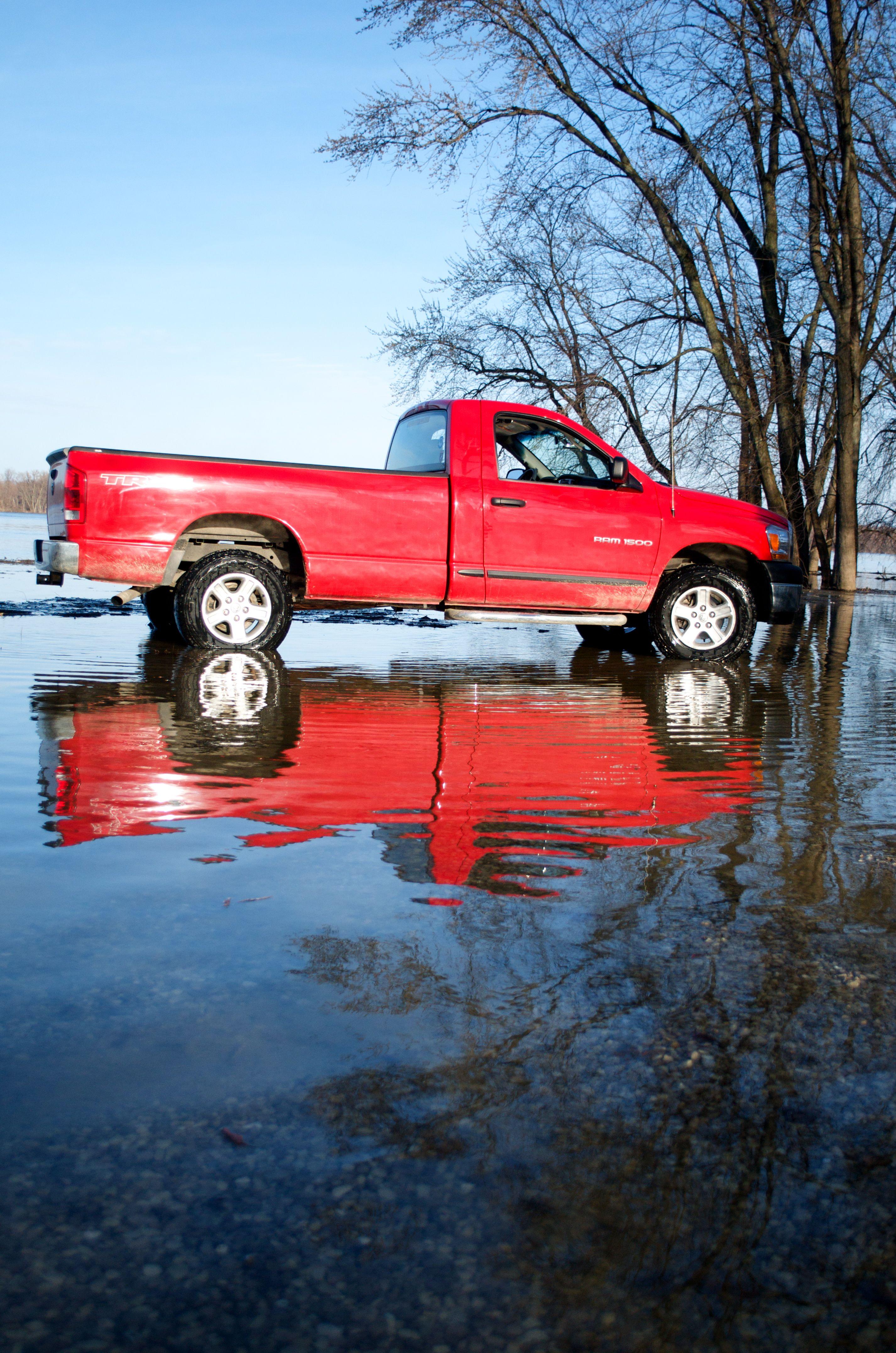 Red Dodge Ram Truck Ram trucks, Trucks, Dodge trucks ram