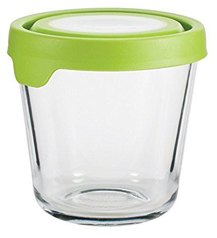 Anchor Hocking Trueseal Glass Food Storage Container With Airtight Lid Green 3 1 2 Glass Food Storage Glass Food Storage Containers Glass Storage Containers
