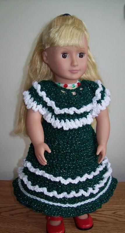 Free crochet pattern for American Doll. Pinned from the original ...