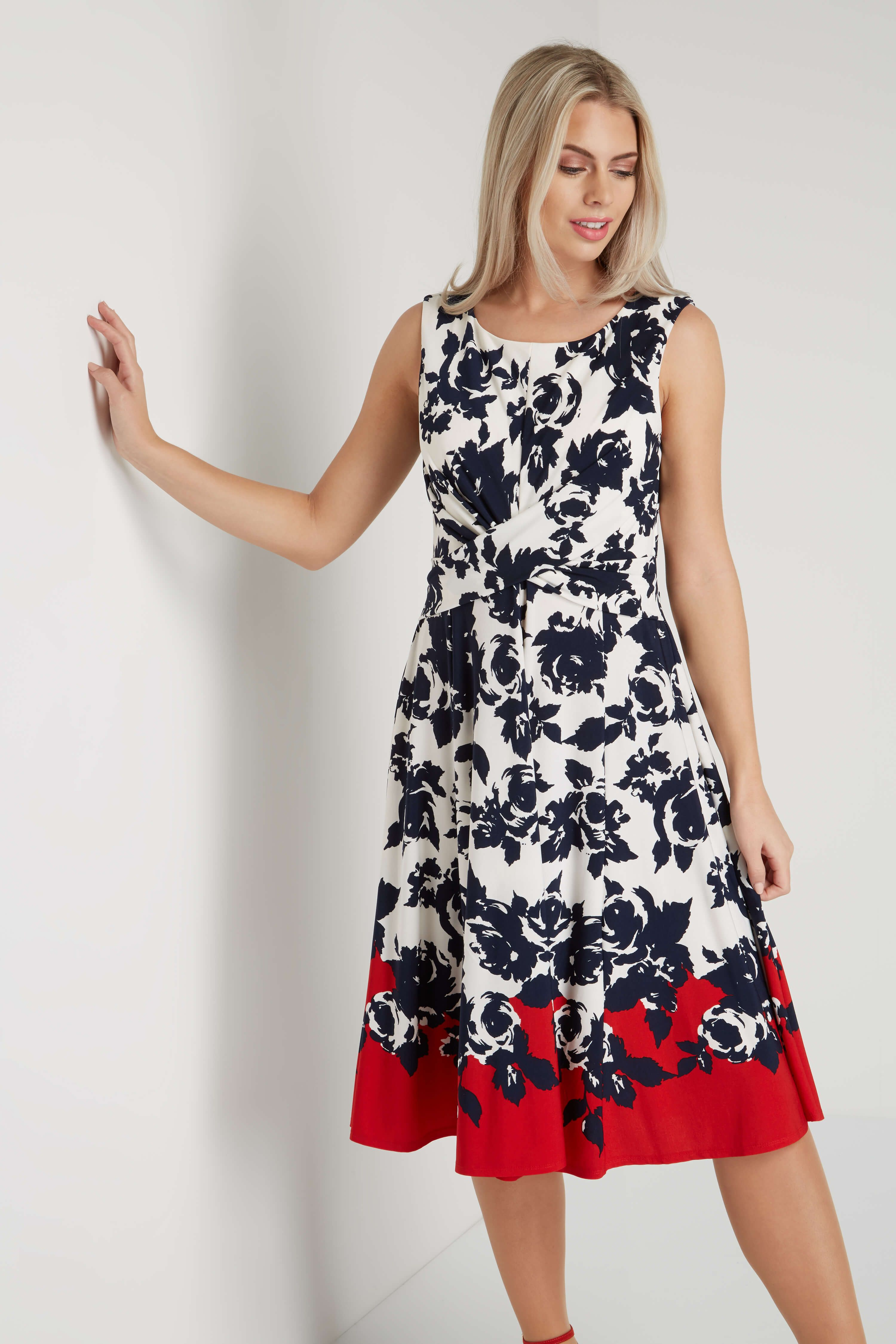 3cf9608be8 A lightweight romantic summer dress in a fit and flare shape, this style  features a