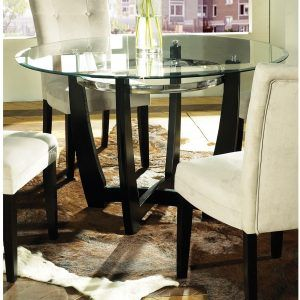 66 Round Glass Dining Table  Httpcapturecardiff Fascinating Glass Dining Room Table Sets Inspiration