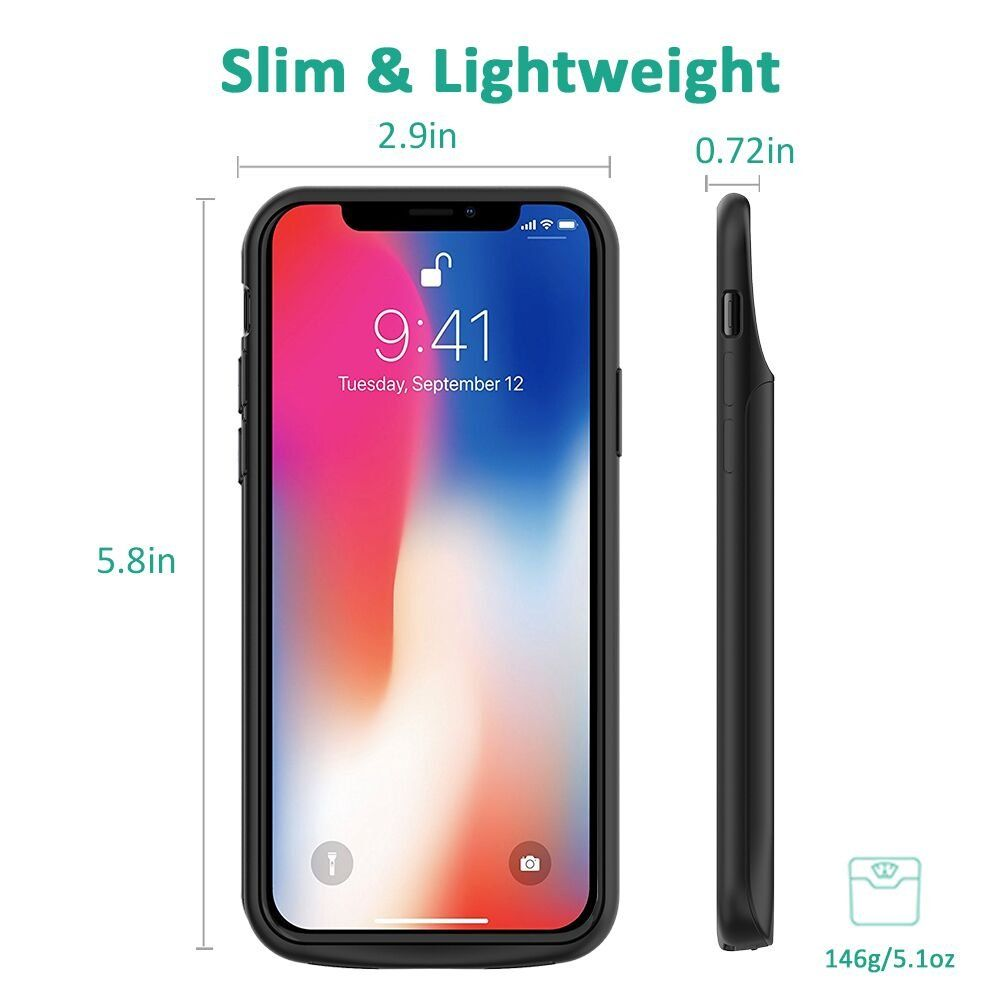separation shoes ae25a 29b38 iPhone X Battery Case Stoon 6000mAh Portable Charger Case ...