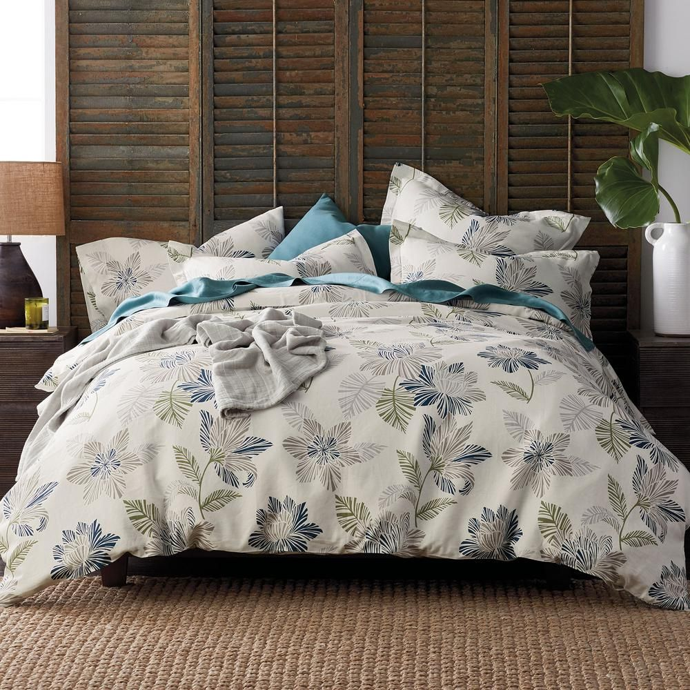 The Company Store Grady Floral Multicolored Linen Queen