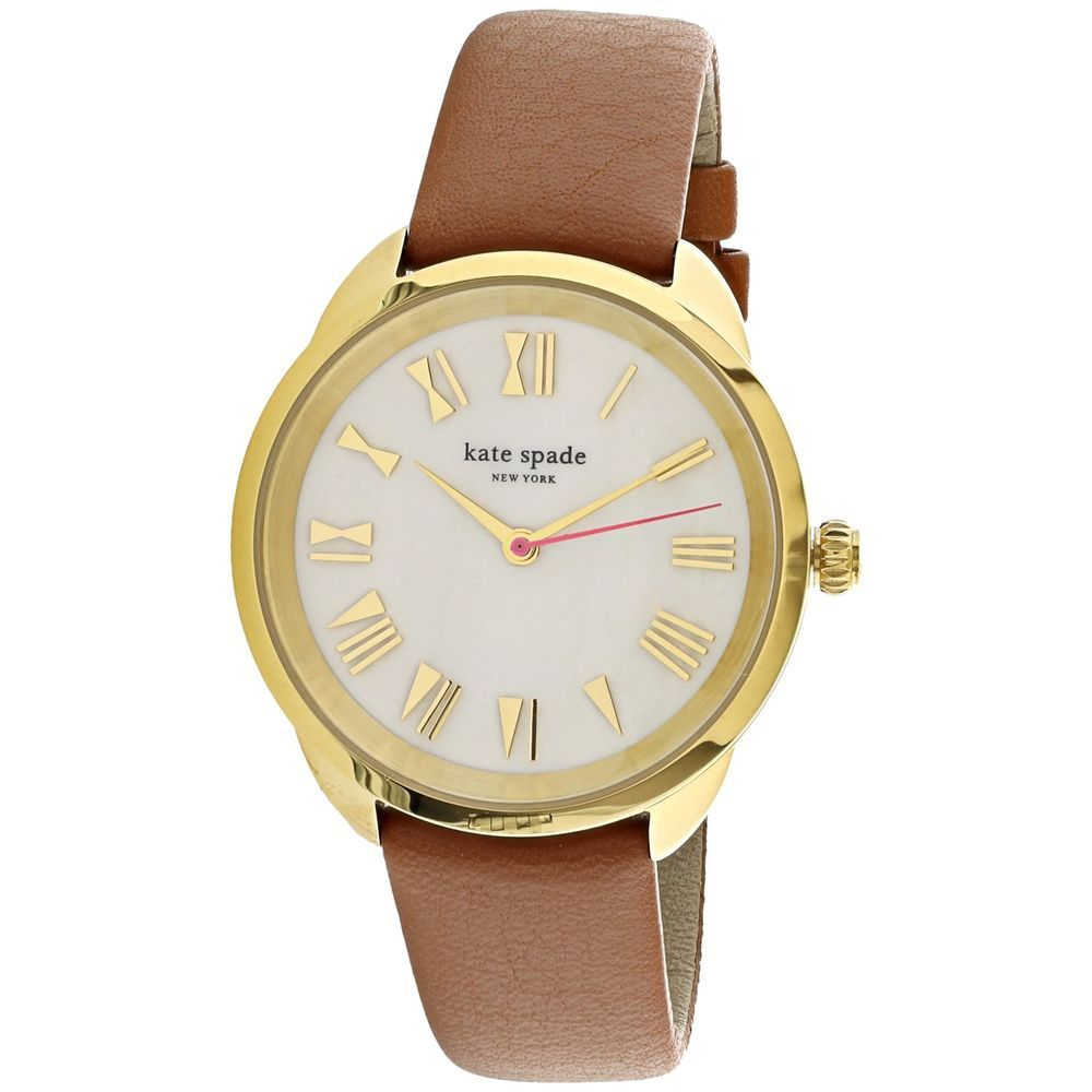 Kate spade womenus eldridge ksw brown gold tone stainlessteel