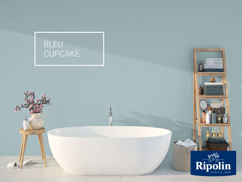 Peinture Ripolin Bleu Cupcake pièce d'eau par excellence, la salle de bains s'habille en