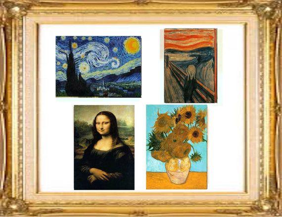 Famous Art Planner Stickers4 10 Fine Art Stickerscool Gift Etsy Famous Art Famous Art Paintings Art
