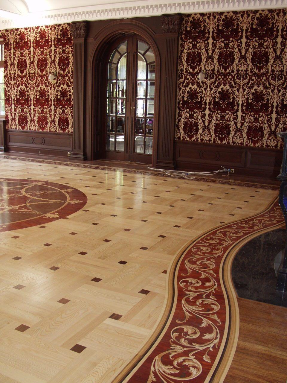 Custom Hardwood Floor Parquet Border Design By Renaissance