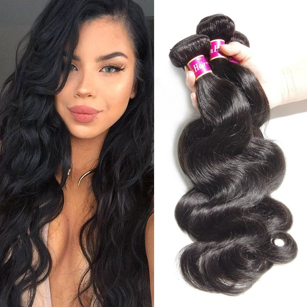 Bly Hair Brazilian Virgin Hair Body Wave 3 Bundles Grade 6a 100