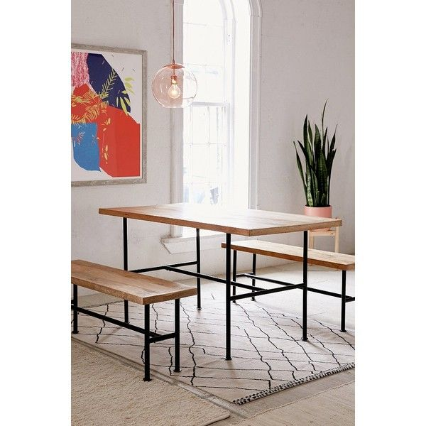 Kendall Pipe Dining Table 710 Cad ❤ Liked On Polyvore Featuring Best Kendall Dining Room Inspiration Design