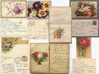 Laminas decoupage: Laminas antiguas de cartas. escrituras antiguas.sellos... #Vintage #Antique #Retro #Ephemera #Printable #Illustration #Decoupage #Chic #Sepia
