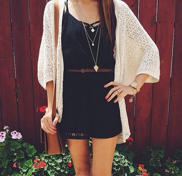 Romper with cardigan (elegantunicrons/ Tumblr) | My Dream Style | Pinterest | Clothes Clothing ...