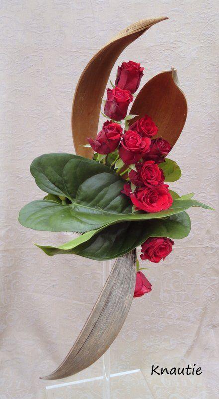 Art floral art floral compositions florales coco roses feuilles d