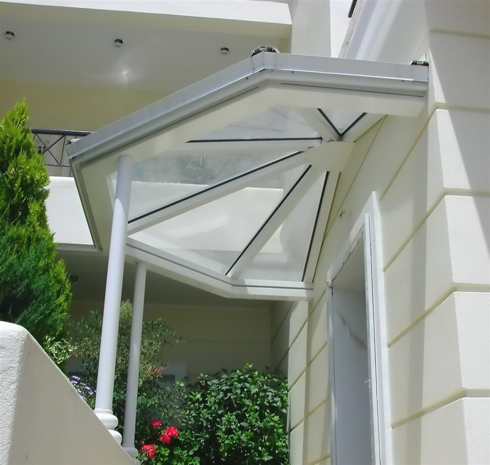 Aluminum shelter with lexan. www.glazetech.gr