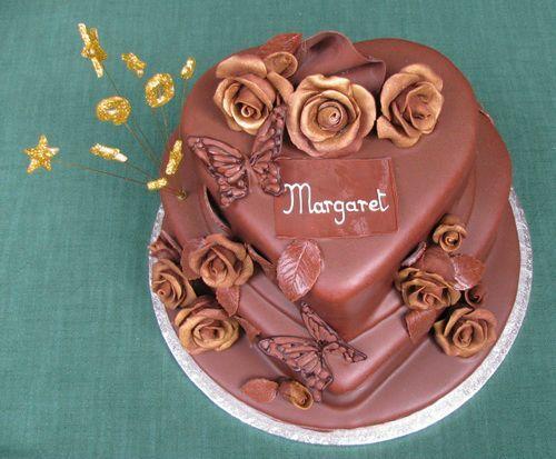 Cute Heart Chocolate Birthday Cakes Birthday Cake Ideas