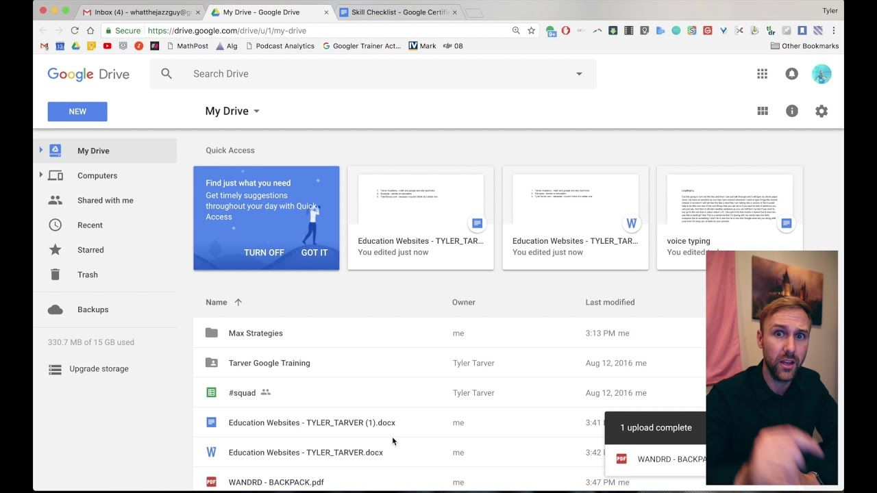 Uploading Files and Folders // Google Drive Education