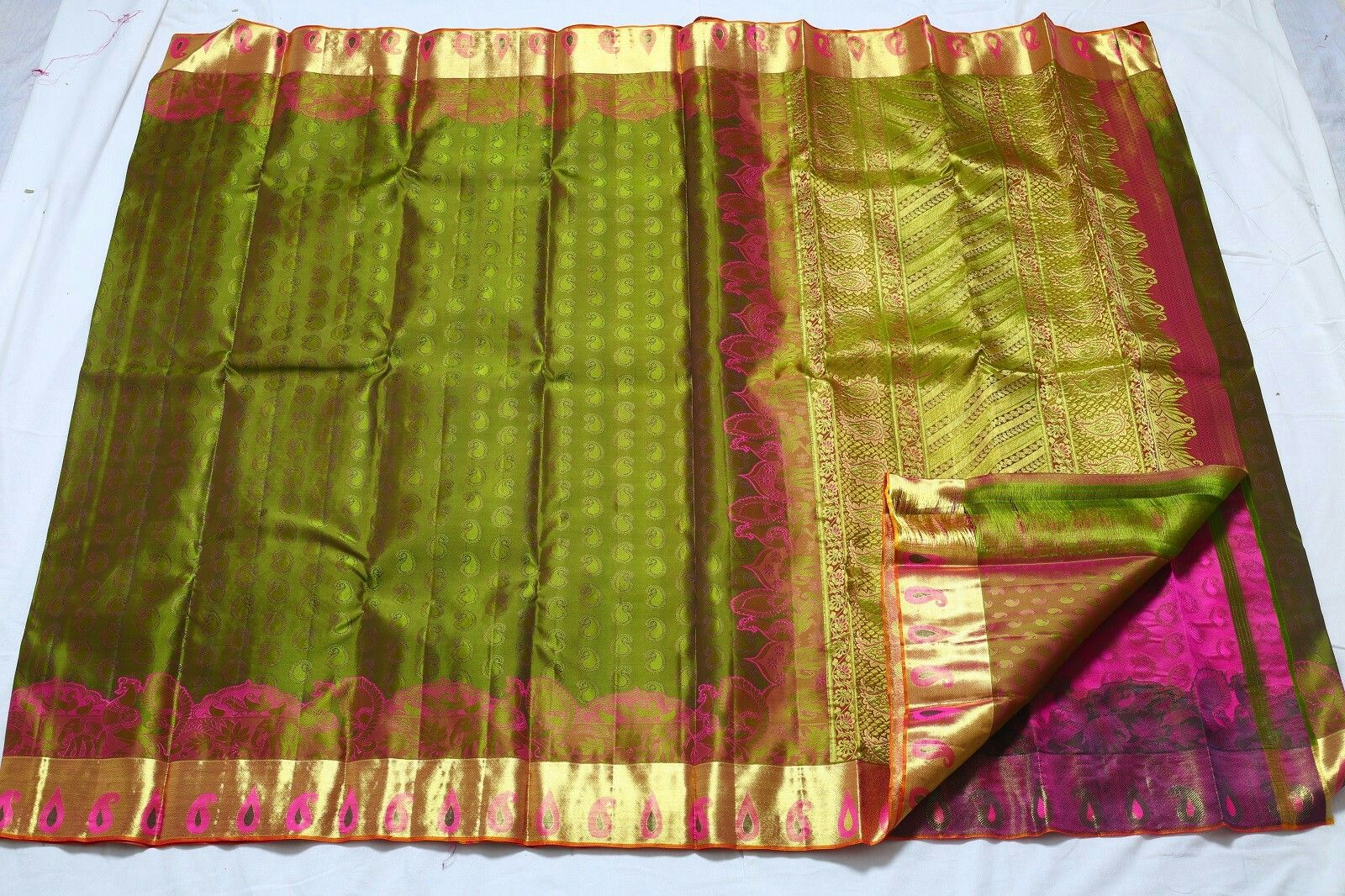 Pin by Best Deals on Sarees | Pinterest | Golden color, Silk sarees ...