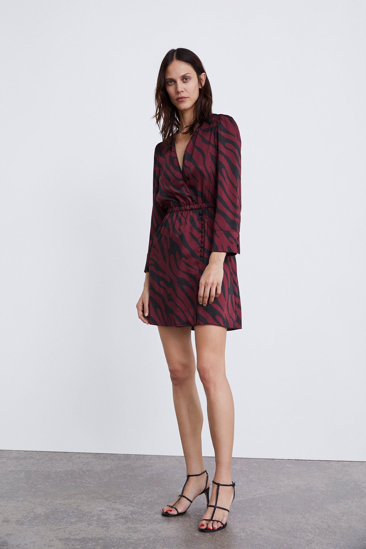 Aymeline Valade For Zara Aw18 Via Zara Com Aymelinevalade Supermodel Topmodel Fashion Style Beauty Zara Printed Wrap Dresses Wrap Dress Dresses