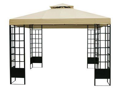 10ft X 10ft Nepal Outdoor Gazebo Tan By Empire Covers 369 99 Hardware Included For Quick Assembly T Outdoor Gazebos Water Resistant Fabric Outdoor Picnics